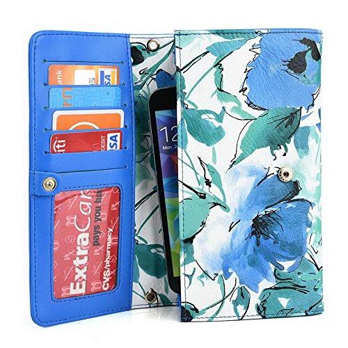 Kroo Pochette Crocodile pour portefeuille et étui pour Prestigio MultiPhone 5400Duo/8400Duo Multicolore - vert Multicolore - vert