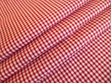 1/20,3 cm rot gingham * * FREE UK Post * * CHECK Material