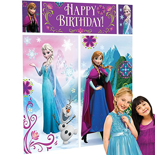 PARTY DISCOUNT Neu Wand-Deko Happy Birthday Frozen, 5-teilig