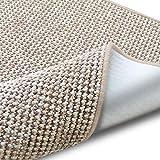 casa pura Teppich Grandeur | Pflegeleichtes Bouclé | viele Größen | für Flur, Wohnzimmer, Esszimmer, Küche, Schlafzimmer, Büro | gekettelt (Sand - 140x200 cm)
