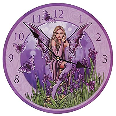 Picture Clock - Lisa Parker Fairy with Irises - Birthday Gifts Presents for Girls/Her