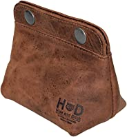 Hide & Drink, Leather Double Snap Pouch/Coin Purse/Cash/Cable Organizer/Makeup/Card Holder, Handmade Includes 101 Year Warra