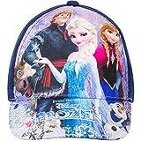 Disney Frozen - Die Eiskönigin Kinder Cap Baseball Cap für Mädchen, Kappe mit verschiedenen Motiven (Blau, 52)
