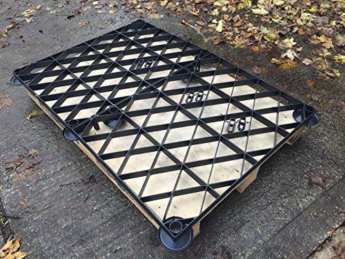 Abri de jardin Base Grille surélevée Kit 6 x 6 ou 6 x 5 0,8 = complet Eco Kit de base en plastique x 1,85 x 1,7 m Eco pour grilles et pieds relevables