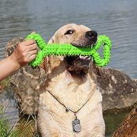 Duros Juguetes morder para perros, 13 pulgada goma juguete forma de hueso con superficie convexa resistente Juguetes interactivos para cachorro de perros pequeños medianos y grandes