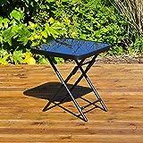 Kingfisher FSDT Folding Drinks Side Garden Patio Table - Black