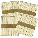 COM-FOUR® Holzstiele für Eis, Cakepops, Lollies, Kuchen am Stiel und Bastler - 11x1cm (200 Stück)