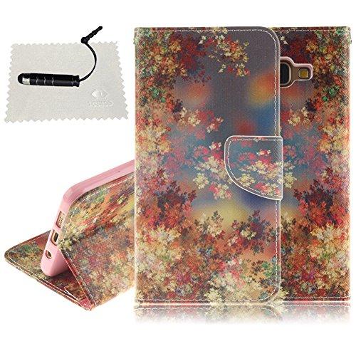 Tasche Luxus Hülle für Samsung Galaxy A5 (2016) A510 Leder Hülle,Handytasche SchutzHülle Brieftasche Wallet Flip für Samsung Galaxy A5 (2016) A510, TOCASO Leder Case Cover Glitter Strass Bling Leder T Floral Series #10