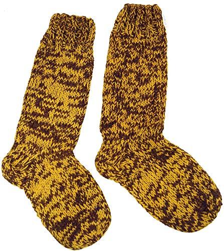 Calcetines de lana amarillos