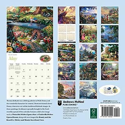 Official Thomas Kinkade: The Disney Dreams Collection 2018 Wall Calendar