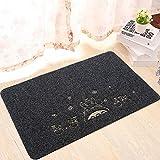 Homecube Türmatte Teppich Sauberlaufmatte Fußmatte Schmutzfangmatte schwarze Teppich mit Cartoon