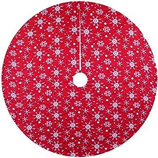 Falda del árbol de Navidad con la piel de imitación de plata SnowflakePlush bordado de la nieve del árbol de Navidad de la falda de la estera por Navidad Año Nuevo partido de la decoración de vacacion