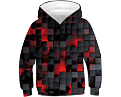 ALISISTER Unisex 3D Hoodies for Kids Funny Printed Pullover Hooded Sweatshirt Pockets Age 4-16