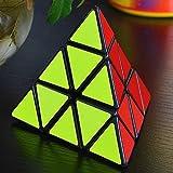 MASCARELLO® Triangle Pyramid Pyraminx Magic Cube Speed Puzzle Twist Toy Game Education, Black
