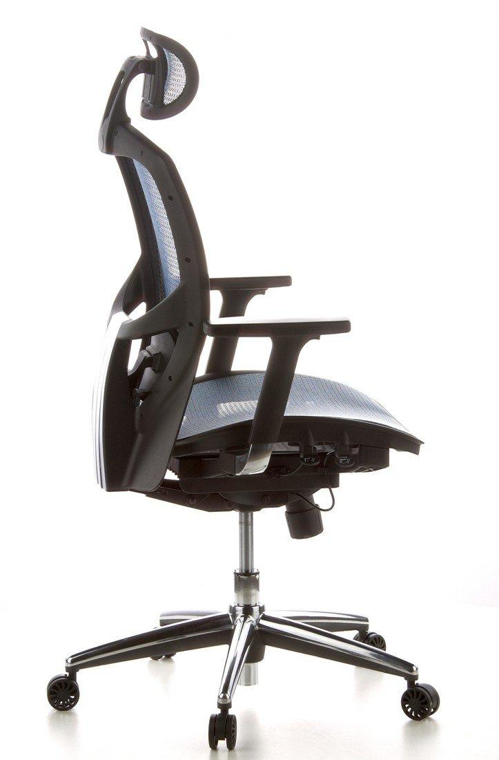 hjh OFFICE 657010 silla de oficina VENUS ONE tejido de malla azul silla ejecutiva ergonómica