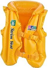 Kids Life Saving Vest, PVC Lightweight Inflatable Swim Vest Safety Jackets Buoyancy Vest for Boating Swimming