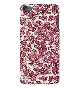 Floral Art 3D Hard Polycarbonate Designer Back Case Cover for Apple iPod Touch 5
