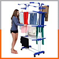 Magna Homewares Heavy Duty Steel 4 Layers 4 Poles Super Grandis Cloth Drying Stand/Clothes Dryer Stands/Laundry Racks…