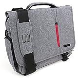 Snugg Laptoptasche, Graue Notebooktasche - Umhängetasche für Laptops mit Einer Bildschirmdiagonale von bis zu 15.6 Zoll