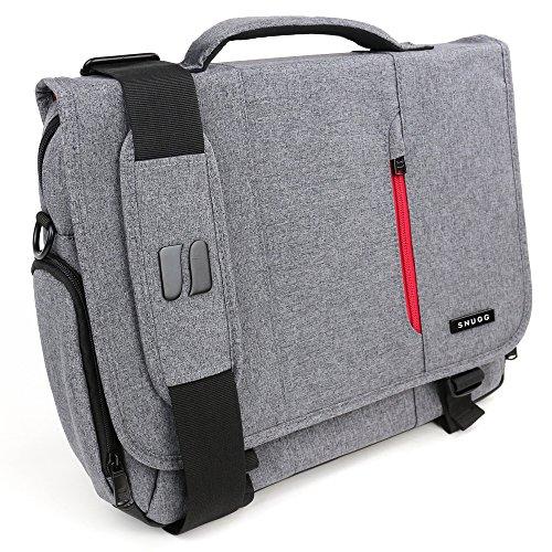 Laptoptasche, Snugg - Graue Notebooktasche - Umhängetasche für Laptops mit einer Bildschirmdiagonale von bis zu 15.6 Zoll (Prada Messenger Nylon)