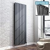 iBathUK 1800 x 608 Vertical Column Designer Radiator Anthracite Double Flat Panel
