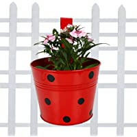 TrustBasket Single Pot Railing Planter - Red