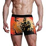 XiangHeFu Boxer da Uomo Slip da Notte Full Moon Happy Halloween Stretch Mutande Traspiranti