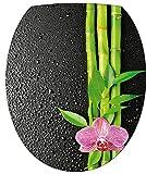 StickersNews–Pegatina wc,–adhesivo decorativo para tapa de inodoro Flor Bambú