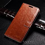OST (TM) Leather Wallet Magnetic Clip Stand Flip Case Cover For Apple Iphone 7 Plus (Brown)