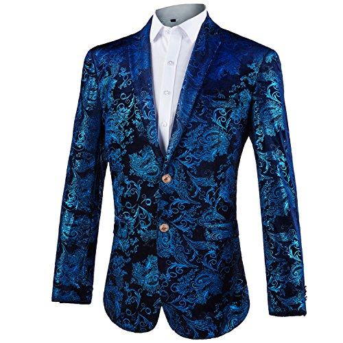 GOMY Giacche Uomo Elegante Blazer Stampato