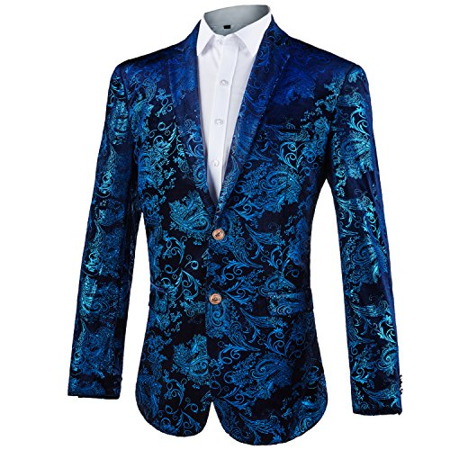 2092dd33b44e GOMY Giacche Uomo Elegante Blazer Stampato (XXX-Large