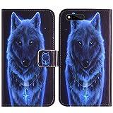 TienJueShi Wolf Flip Book-Style Brief Leder Tasche Schutz Hulle Handy Case Abdeckung Fall Wallet Cover Etui Skin Fur RAZER PHONE RZ35-0215 5.7 inch