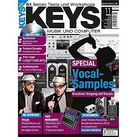 Keys 11 2016 mit DVD - Vocal Samples - Kreativer