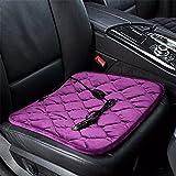 Auto Cuscino riscaldante sedile auto elettrica Cuscino riscaldante in fibra di carbonio 12v singola sede invernale tampone caldo,viola