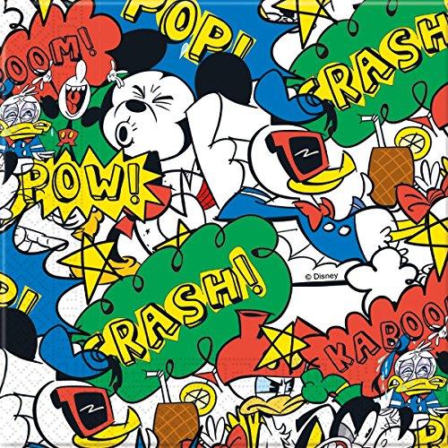 20 Servietten * MICKEY MOUSE - SUPER COOL * von Disney für Kindergeburtstag oder Mottoparty // Kinder Geburtstag Motto Party Micky Maus Papierservietten Napkins (Micky Und Geburtstag Freunde Maus Supplies Party)