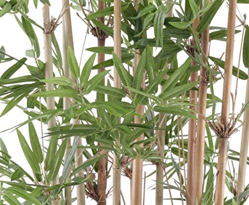 Bambus, mit UV Schutz, 2400 Blätter, Höhe ca. 180cm – Kunstpflanzen Bambusbaum künstlich