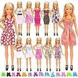 Miunana 22 Pezzi = 12 PCS Abiti Vestiti alla Moda Fashion + 10 PCS Scarpe per 11.5 Pollici 28 - 30 CM Principessa Bambola Regalo di Compleanno Festa