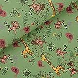 Super Schöner Softshell mit Dschungeltieren auf grünen