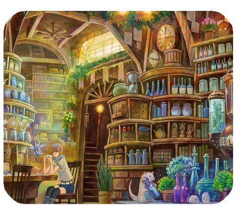 Alchemy Lab World Of Warcraft Mousepad Personalized Custom Mouse Pad Oblong Shaped In 9.84
