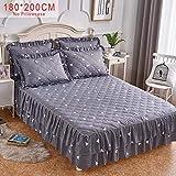 favourall Bett Rock Sets Bed Skirt, 180x200 Bettrock tagesdecke bettdecke Sheet Bequem, warm, weich, hautfreundlich, Verbläßt Nicht, kann den Ball Nicht leisten, schrumpft Nicht by