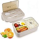 vitutech Lunch Box, Bento Box Boite Bento avec Fourchette Et 3 Compartiments1400ml Sécurité Anti-Fuite Écologique Hermétique