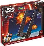 Revell Modellbausatz Star Wars Kylo Ren´s Command Shuttle im Maßstab 1:93, Level 2, originalgetreue Nachbildung mit vielen Details, Steckmechanismus, mit vorbemalten und vordekorierten Teilen, 06695
