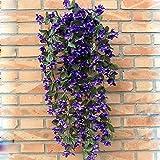 Plante retombante fleurie artificielle Bouquet de violettes