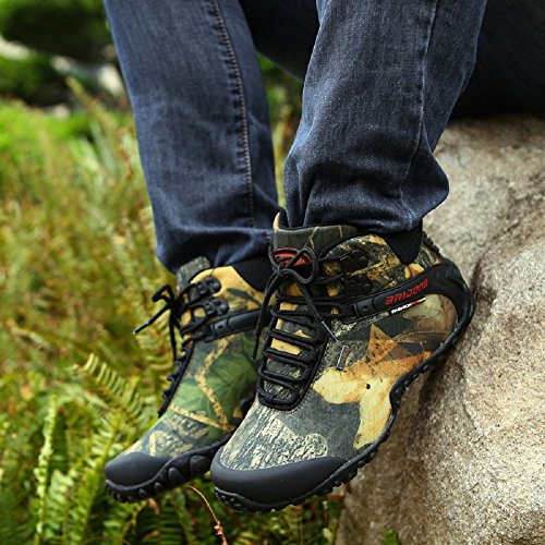 NEOKER Trekking Scarpe Uomo Stivali da Arrampicata Escursionismo Invernali Outdoor Sport Scarponcin Verde Grigio 40-45 Verde