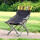 Be&xn Camping klappstuhl außen, Canvas Canvas Leichte bequemsessel Amerikanischen Lounge Chair Aluminium Portable Ageln Stuhl Leisure Stuhl Liegestuhl Mond Stuhl-braun W52xH81cm(20x32inch)