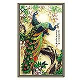 #1: Rrimin 5D Diamond Embroidery Painting DIY Peacock Cross Stitch Craft Home Decor 32*45cm (No.18)