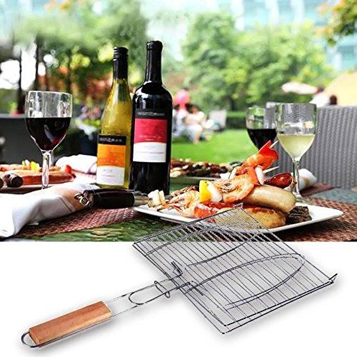 61jimMYUm%2BL - BBQ Barbecue Grill Kochen Fisch Burger Fleisch Lebensmittel Grillen Korb Ordner Clip Draht Maschen BBQ Werkzeug Zubehör