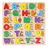 Grsafety ABC Alphabet Apprendre l'anglais Enfants Enfants en Bois Peg Puzzles Early...
