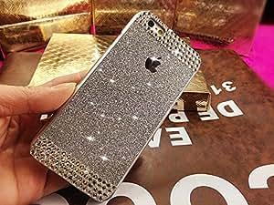 Coque iPhone 6, Extreme Deluxe Bling Etui Housse téléphone couverture de diamant main Crystal Clear Rhinestone de protection de peau Case Cover pour Apple iPhone 6 4,7 pouce écran - Sliver