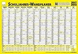 TimeTex Schuljahres-Wand-und Projektplaner für das Schuljahr 2017 / 2018 - 70 x 100 cm - laminiert - abwaschbar - Wandplaner - Schuljahreswandplaner - 10761